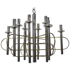 Modernist Sculpture Chandelier Sciolari, Design 1970
