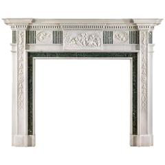 Fine Statuary Marble Edwardian Chimneypiece in the Georgian Style
