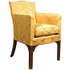 Very Fine 18th Century Chinese Chippendale Wing Chair, circa 1765
