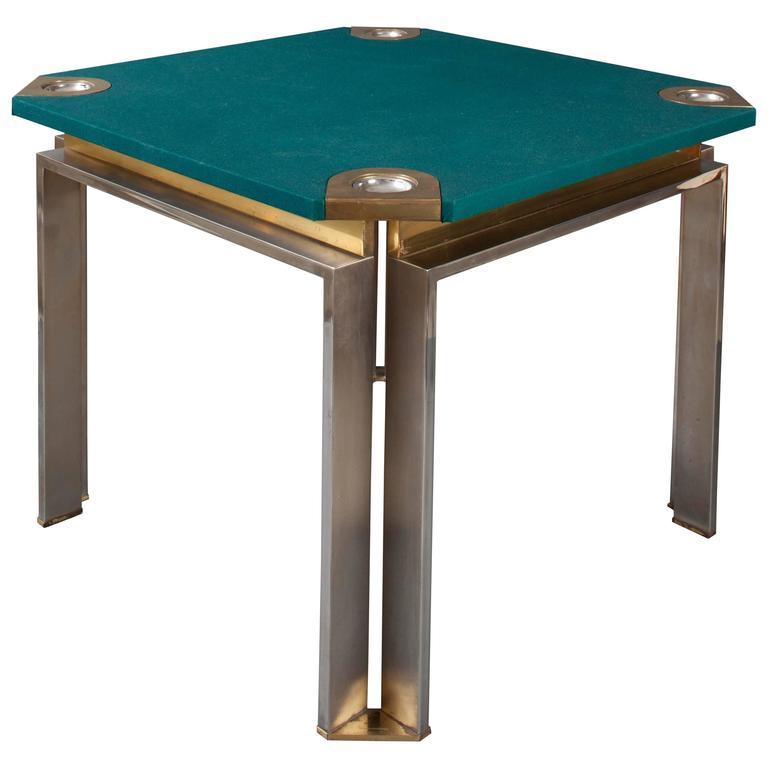 "20th Century Italian Game-Poker Table 1970s ""Dada Industrial Design"""
