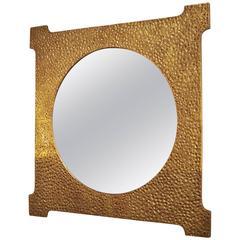 Gilt Bronze Mirror by Luciano Frigerio, circa 1970-1980