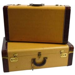 Two Pieces Vintage Luggage by Star Craft