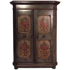19th Century Country House Wardrobe Germany dated 1822