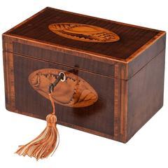 18th Century Georgian Harewood Tea Caddy
