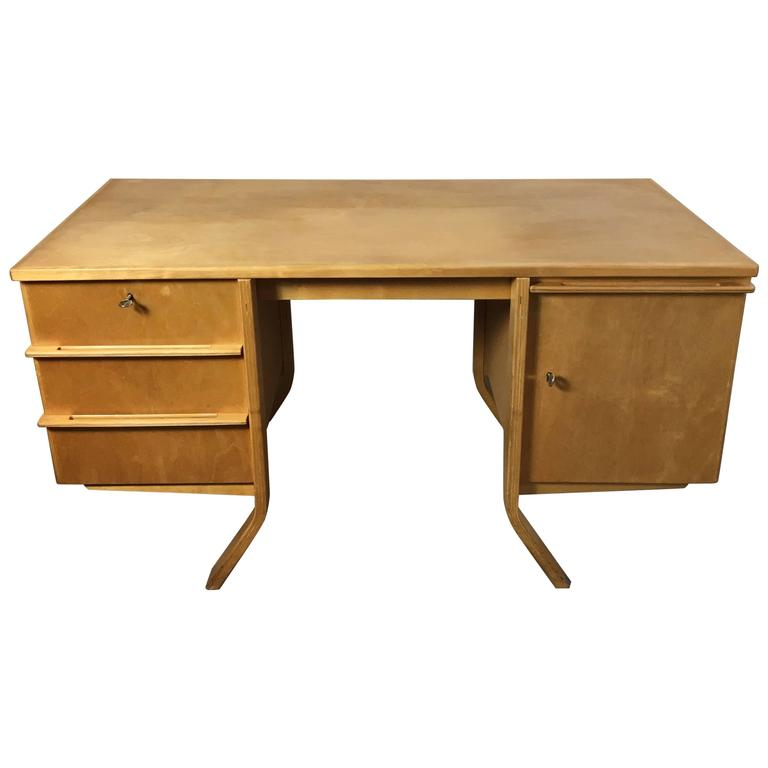 1950s Cees Braakman Writing Desk EB04 for Pastoe