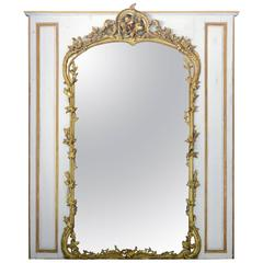Louis XV Style Gilded Wood and White Rechampi, 19th Century