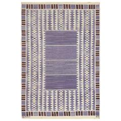 Vintage Scandinavian Swedish Kilim by Marta Maas