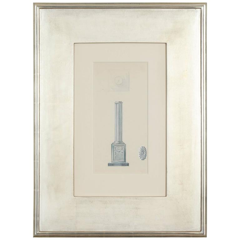 Framed architectural drawings for sale at 1stdibs for Architectural drawings for sale