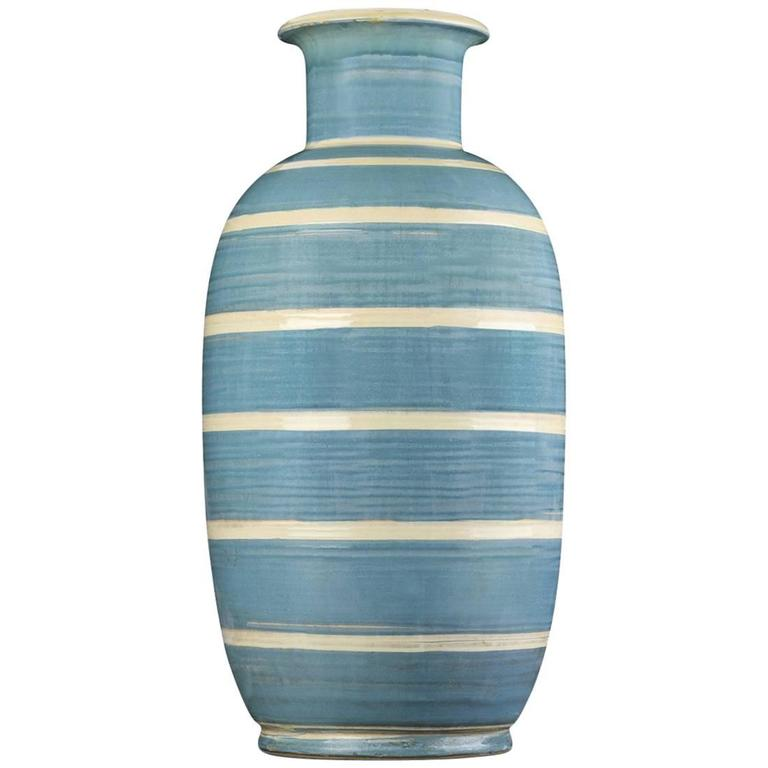 Hermann August Kahler Art Deco Danish Ceramic Vase For Sale At 1stdibs