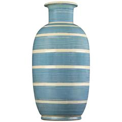 Spectacular Monumental Art Deco Striped Vase by Kahler