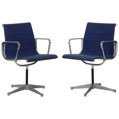 Pair of Charles Eames for Herman Miller EA108 Swivel Office Chairs, circa 1960