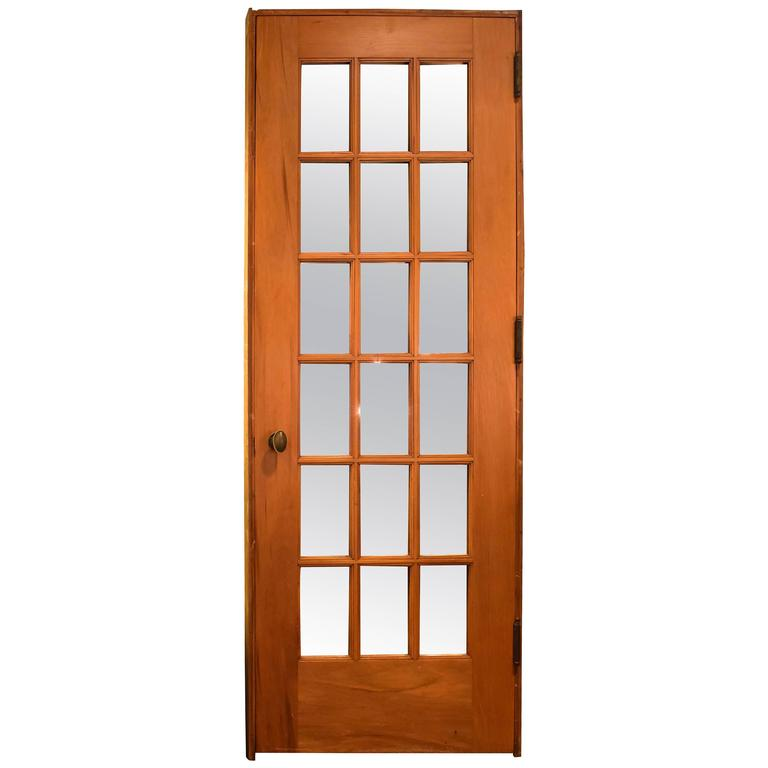 Full view single french door with mirrors for sale at 1stdibs for Single door french doors