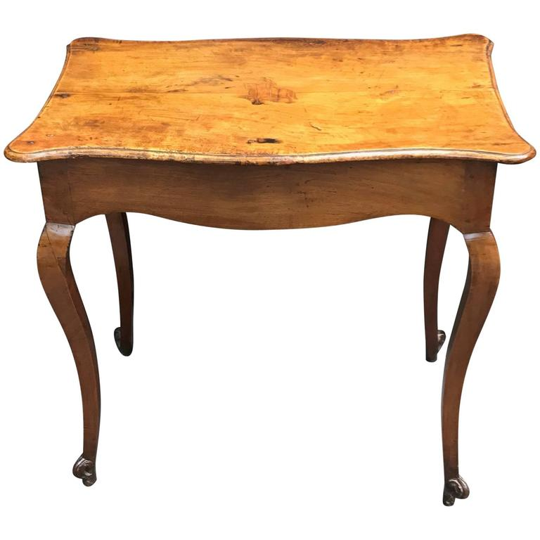 Louis xv provincial walnut side table for sale at 1stdibs - Table louis xv ...
