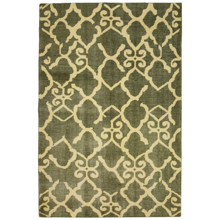 Green Modern Area Rug For Sale At 1stdibs