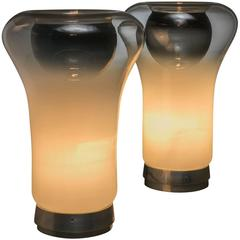 "Pair of ""Saffo"" Table Lamps by Angelo Mangiarotti for Artemide"