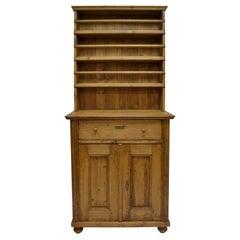 Pine Two-Piece Open Rack Dresser