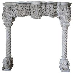 Antique Venetian Style Carrara Mantel