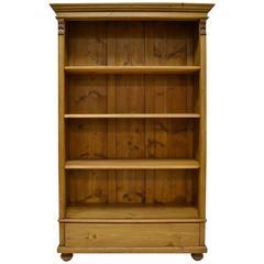 Vintage Pine Open Bookcase