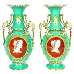 Mid-18th Century Old Paris Porcelain Vases
