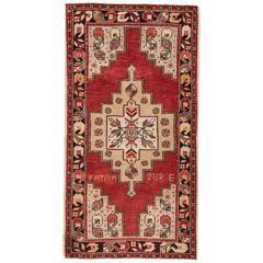 "Vintage Anatolian Rug, 3'6"" x 6'5"""