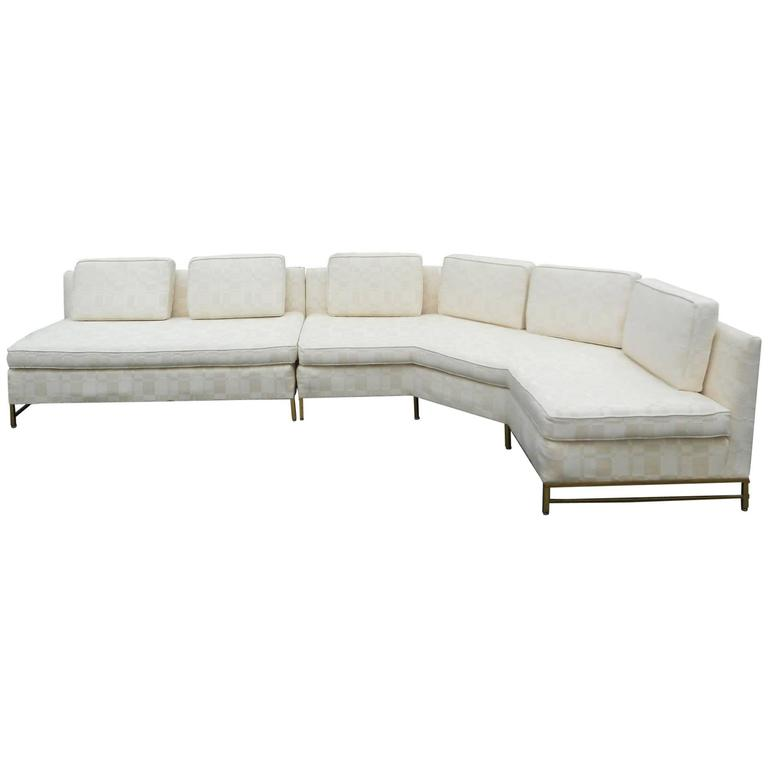 Impressive Two-Piece Mid-Century Modern Sofa by Paul McCobb for Directional