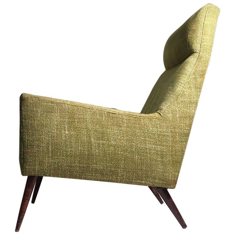Superb Paul McCobb High Back Form Large Lounge Chair