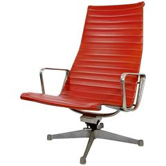Mid-Century Modern Early Eames Herman Miller Aluminium Group Office Swivel Chair