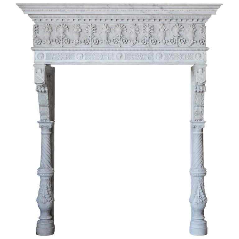 Antique Italianate Marble Mantel For Sale