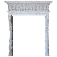 Antique Italianate Marble Mantel