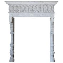 Antique Italianate Marble Mantel