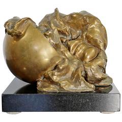 Mid-Century Modern Jens Flemming Sorensen Bronze Surrealist Sculpture, 13/60