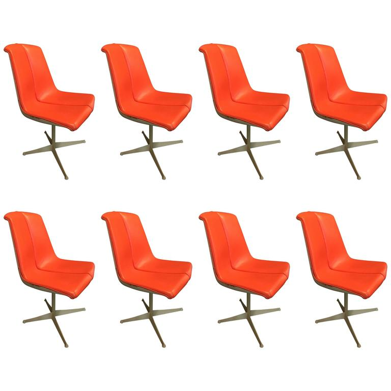 Set of Eight Richard Schultz Dining Chairs Knoll, 1961 1