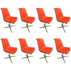 Set of Eight Richard Schultz Dining Chairs Knoll, 1961