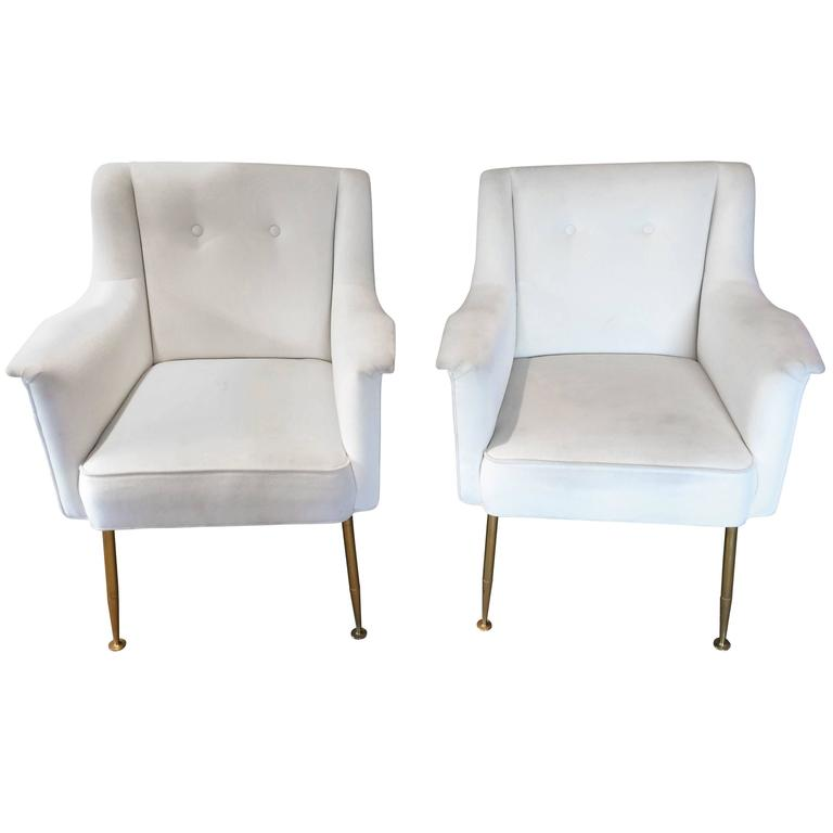 Ultra chic pair of mid century modern italian lounge club for Ultra modern italian furniture