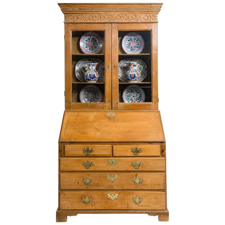 Antique George III Bureau Bookcase