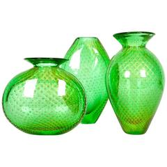 Mid-Century Modern Three Pieces Murano Vases or Pieces