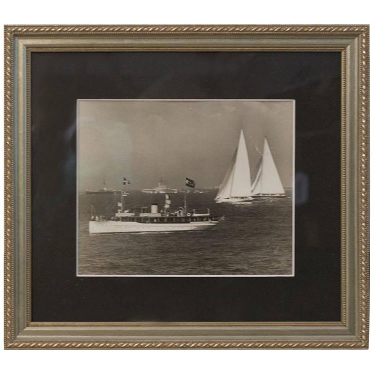 Original Press Photo Showing America's Cup Yachts Ranger and Endeavour II