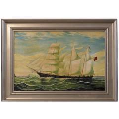 Oil Canvas of Clipper Ship
