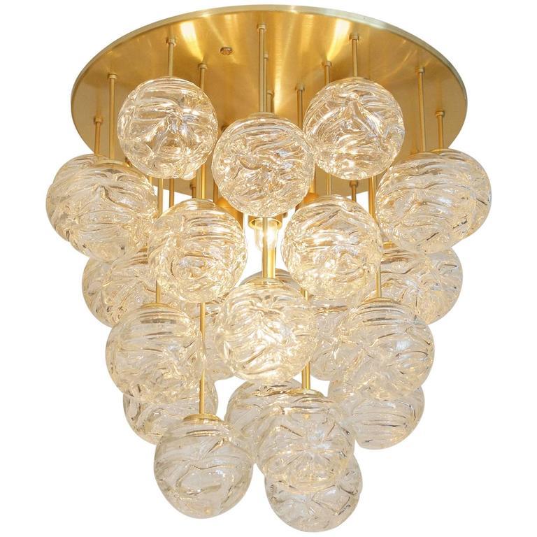 Large Doria Flush Mount with Spun Glass Globes 1