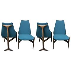 Four Mid-Century Modern Sculptural Chairs by Kodawood