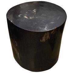andrianna shamaris super smooth petrified wood side table