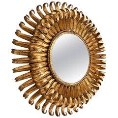 Gilt Sunburst Mirror, 1960
