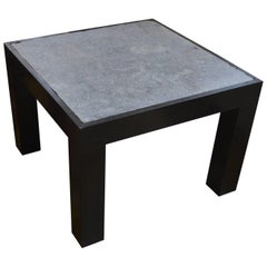 Andrianna Shamaris Riverstone Teak Wood Side Table