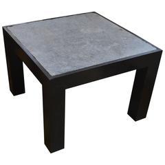Andrianna Shamaris Riverstone Teak Wood Side Table