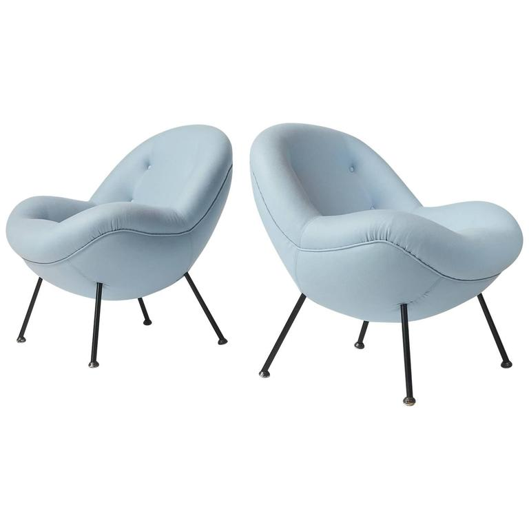 "Pair of Fritz Neth ""Egg"" Chairs For Sale"