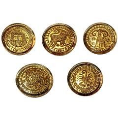 Mid-20th Century Venetian Zodiac Paperweights