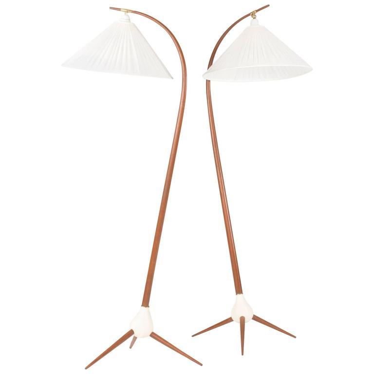 Pair of Teak Floor Lamps by Severin Hansen