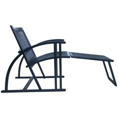Mourgue, Armchair with Its Footrest, Model Arc, Edition Pamco Triconfort