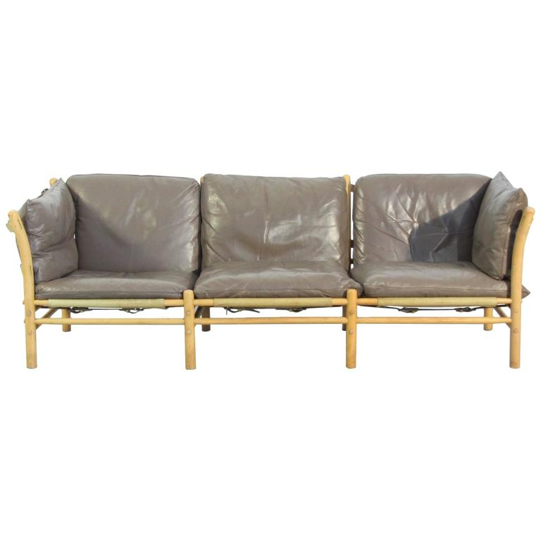 Llona Sofa in Patinated Leather by Norell
