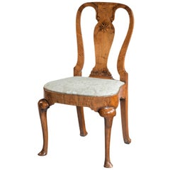 Queen Anne Period Walnut Single Chair